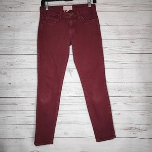Current/Elliot Burgundy Skinny Denim Jean Size 24